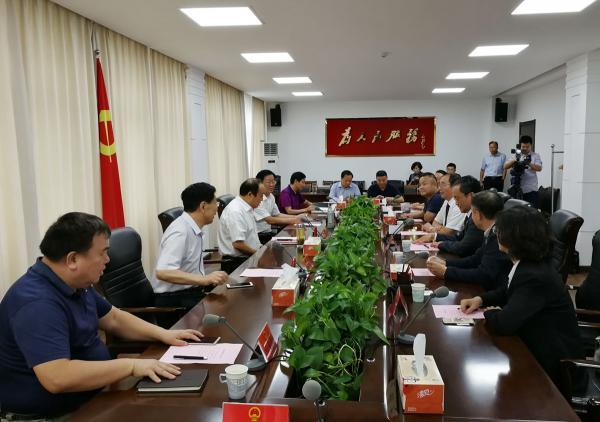 阜阳市委书记李平与任书良博士、马占军会长等一行座谈交流