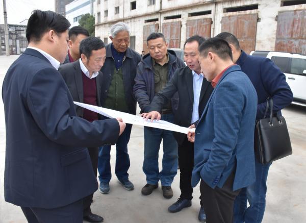 执行会长王志菁等一行考察学习技改中的新冶特钢