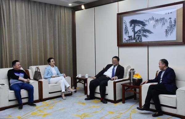 马占军会长会见绿地集团华中区域总经理李煜