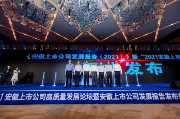 """《安徽上市公司发展报告(2021)》发布 """"安徽板块""""领跑中部 全国第九"""